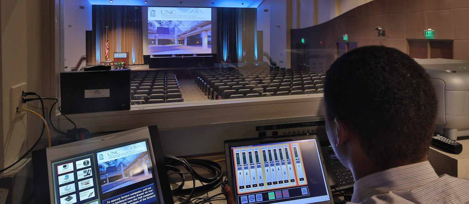 Auditorium Control Room at the Friday Conference Center